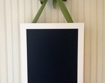 "Dorm decor, MED framed magnetic chalkboard, 16""x12""center, magnet board, memo board, photo display, classroom sign"