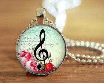 Treble Clef Necklace, Treble Clef Jewelry, G Clef Necklace, G Clef Jewelry, Music Necklace, Music Jewelry, Treble Clef Necklace, Treble Clef