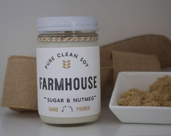 Sugar & Nutmeg Soy Candle, Soy Wax, Natural Candle, Strong Scent Candle, Candle Wax, Farmhouse Fancy, Farmhouse Fancy Girl, Popular Candle