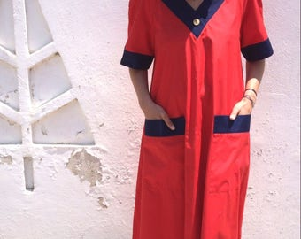 Vintage Guy Laroche cherry red dress