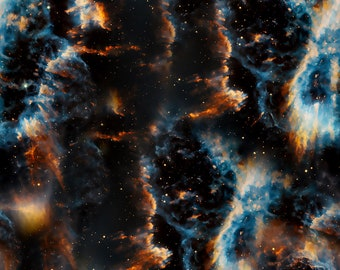Space fabric, outer space, solar system fabric, galaxy fabric, stars fabric, nebula fabric, Milky Way, novelty fabric, cotton by the yard