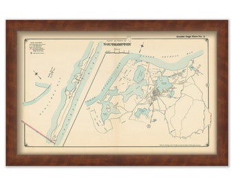 South Hampton Map 1916 Great and Little Peconic Bay - 0039