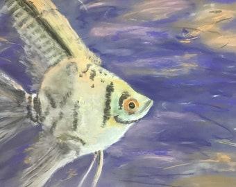 Angel - original pastel painting