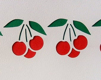 Stencil for a frieze of cherries - model 15