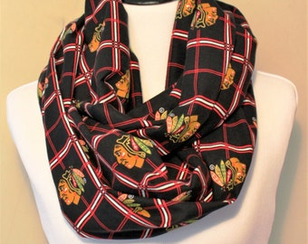 Blackhawks Flannel Scarf - Men's or Women's