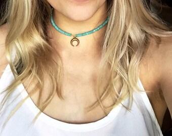 Turquoise adjustable choker