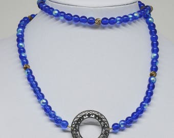 Blue Color Beaded Necklace