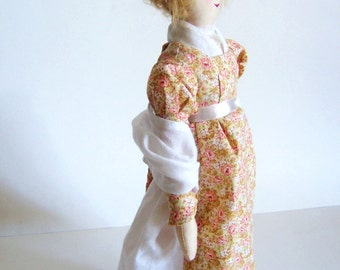 Custom Jane Austen Art Doll