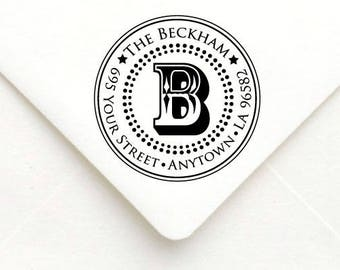 Personalized Self Inking Return Address Stamp - self inking address stamp - Custom Rubber Stamp A09