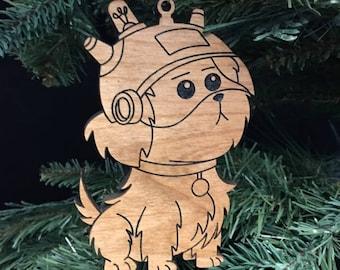 Custom Engraved Hardwood Snuffles Christmas Ornament - Rick and Morty