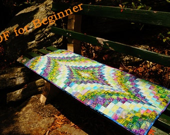 Sewing Quilt Pattern--Vintage bargello table runner-- PDF Instant download