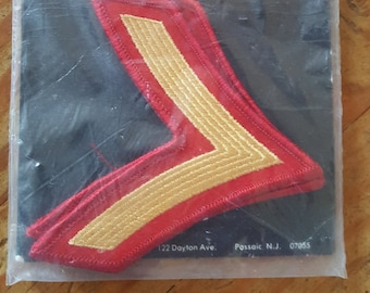Military Patches-Marine Corp Private 1st class Patches-Hilborn Hamburger military patch-military insignia-Set of 2 New in package
