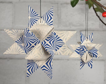 Blue and White Starburst Hygge Star
