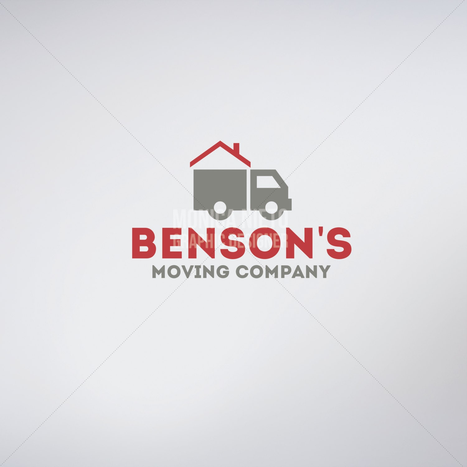 Custom Moving Company Logo & Business Cards/ Moving and