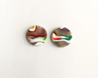 Art Inspired Clay Studs