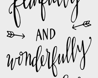 Fearfully and Wonderfully Made Vinyl Decal