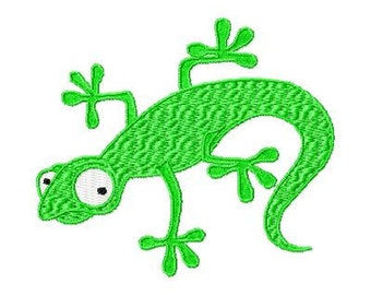 Machine Embroidery Lizard Design