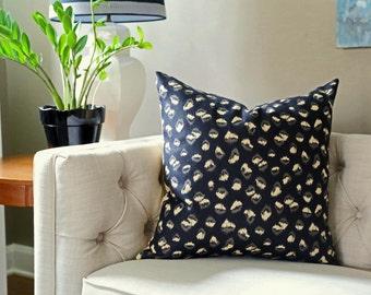 READY TO SHIP - 18x18 Kelly Wearstler Feline Ebony/Beige - Designer Pillow Cover - 2 sided