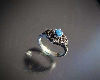 Denim Lapis Ring Sterling Silver