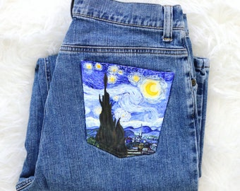 Fanart The Starry Night By Vincent Van Gogh Custom Shoes