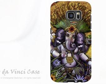 Ganesha Case for Samsung Galaxy S7 EDGE - Premium Dual Layer Galaxy S 7 EDGE Case with Mayan Ganesh Fusion Art by Da Vinci Case