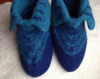Lovely warm house shoes of felted wool