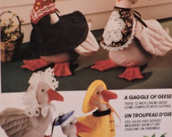 Gaggle of Geese Dolls & Clothes McCall's 753 / 5986 Zooterz Doll Craft Sewing PATTERN