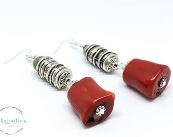 CharmsTown - CoralHeart earrings