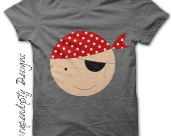 Pirate Iron on Transfer - Boys Iron on Shirt / Pirate Party Printable / Pirate Shirt Design / Pirate Kids Boys Clothing Top Tshirt 3T IT145