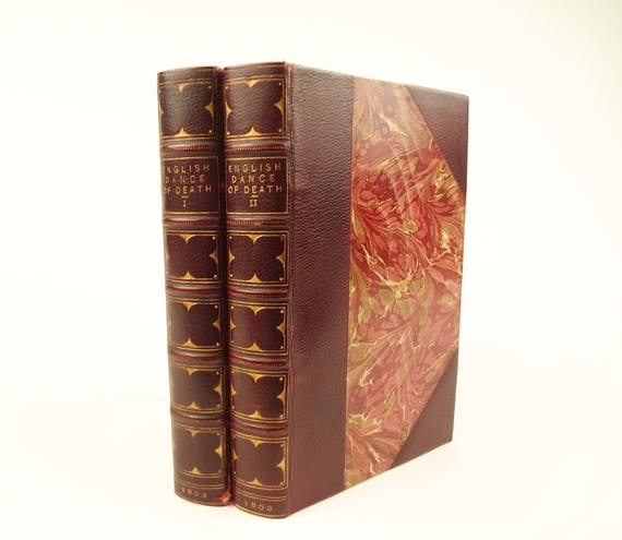 1903 The English Dance of Death,complete in two volumes. Based on 1815 edition. Fine bindings.