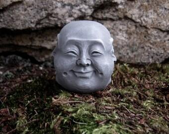 Buddha Head, Four Faces Of Buddha, Happy Buddha Face, Sad Buddha Face, Angry Buddha Face, Content Buddha Face, Concrete Buddha Head,