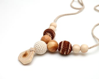 Baby shower gift, Organic Nursing necklace, Breastfeeding juniper pendant, Babywearing necklace, Teething toy, Handmade jewelry,Gift for her