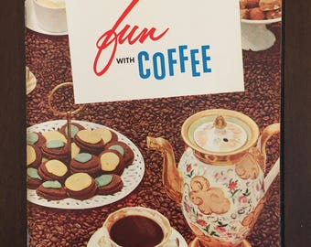 Fun With Coffee, 1956 vintage recipe booklet