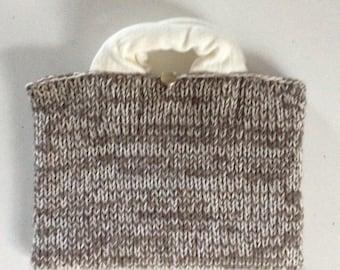 Woolen satchel bag