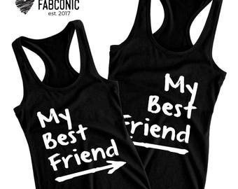 Best friend tank tops, Best friend shirts, Best friend outfits, My Best Friend, Two Best Friend Tank Tops, Raceback Tri-blend tank tops