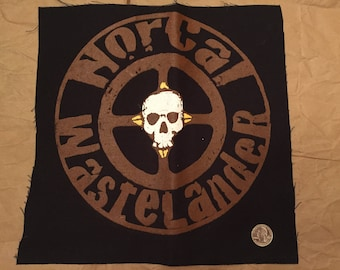 10 inch Screened NorCal Wastelander Back Patch