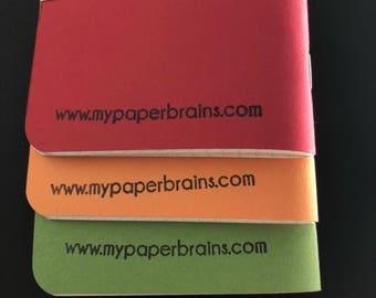 Pocket Notebooks Green/Orange/Red