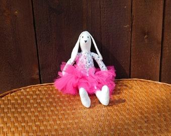 White Tilda Bunny Little Ballerina