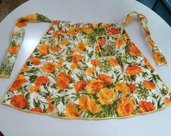 Retro Hostess Apron - Orange Roses Apron