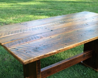 Rustic Table, Rustic Dining Table, Rustic Wood Dining Table, Rustic Kitchen  Table,