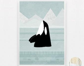 Orca A3 Digital Art Print