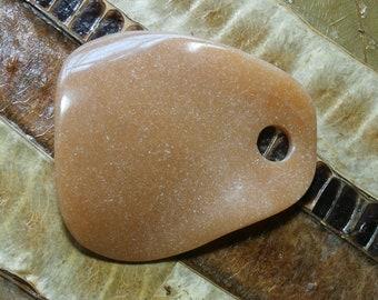 gemstone pendant, petal - 4