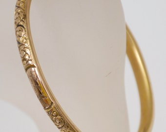 Antique Bracelet gold filled beautiful engraved early 1900's opens