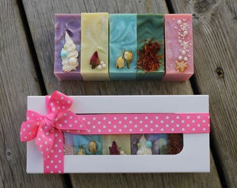 on sale |PRINCESS SOAP SET | 5 Mini Soap Bars | Gift Set of Soaps | Cold Process Soap | Disney Inspired | Bath and Body | Guest Size Soap