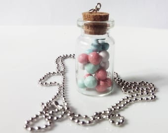Gumball Bottled Charm Necklace
