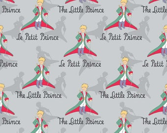 SALE The Little Prince Title Gray - Riley Blake Designs - Boy Grey - Quilting Cotton Fabric - choose your cut