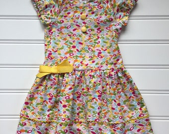Summer Dress for Girls, Girls School Dress, Girls Party Dress, Birthday Party Dress, Girls Yellow Dress, Size 6 dress Ready to Ship