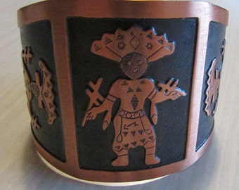 Copper Apache Crown Dancer Cuff Bracelet