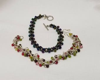 Chain Maille Loops and Beads Bracelets