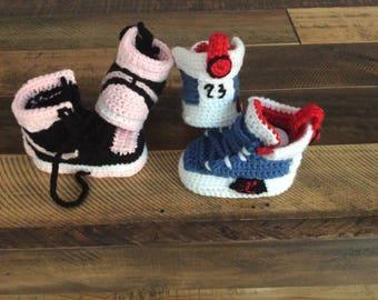 Crochet Baby booties ,Crochet nike air jordan 1,baby Sneakers,Crochet Yeezy  350